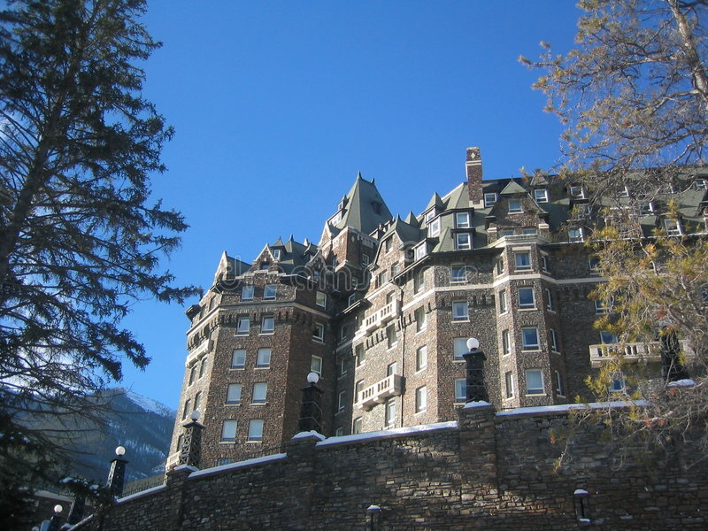 Fairmont nas molas de Banff imagem de stock royalty free