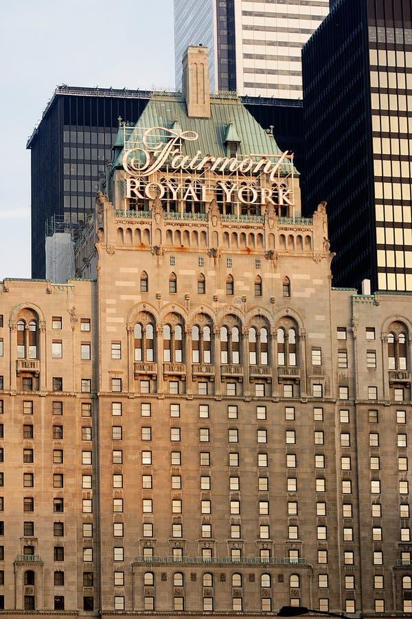 Fairmont Royal York. The Fairmont Royal York hotel in downtown Toronto,Ontario,Canada royalty free stock images