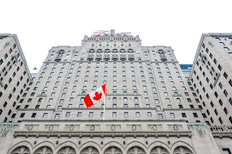 Fairmont Royal York Hotel. Toronto, Canada - November 16, 2016:Fairmont Royal York Hotel is a large and historic hotel in downtown royalty free stock photo