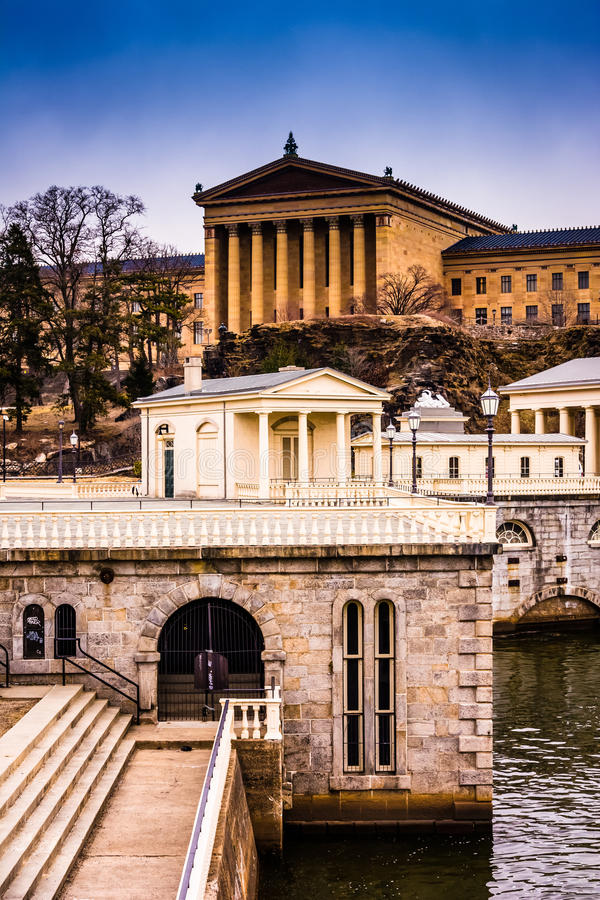 The Fairmount Water Works and Museum of Art in Philadelphia, Pen. Nsylvania stock photography