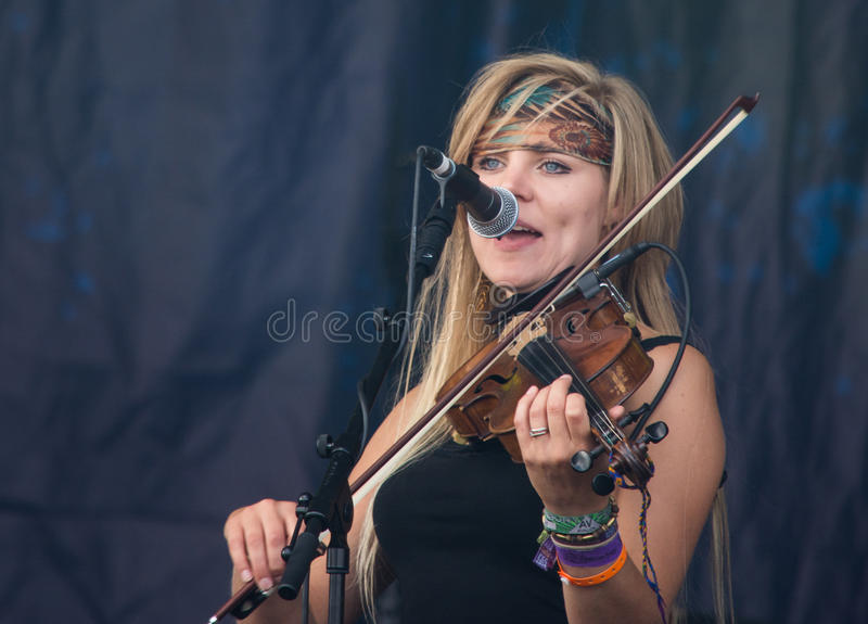 Fairports Cropredy Covention 2014 - Blackbeards tebjudning arkivfoto