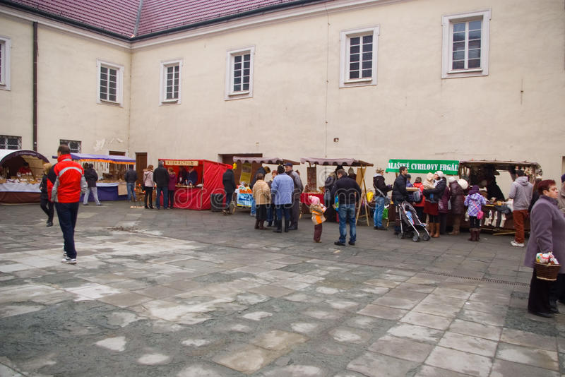 Fairs of christmas. Beskydy Museum in Frýdek-Místek, an organization, organizes Sunday, December 7, 2014 9:00 to 3:00 p.m. hours of traditional Christmas stock image