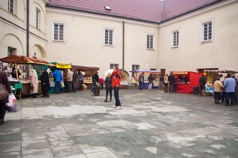 Fairs of christmas. Beskydy Museum in Frýdek-Místek, an organization, organizes Sunday, December 7, 2014 9:00 to 3:00 p.m. hours of traditional Christmas stock images
