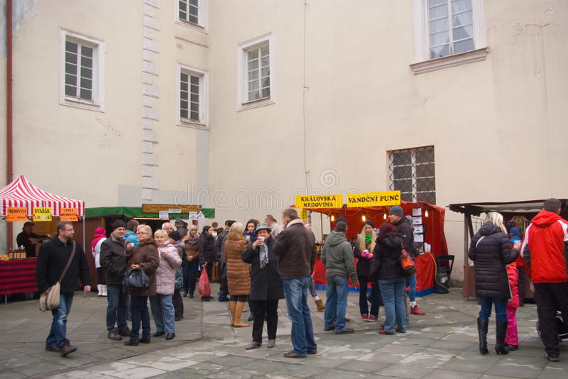 Fairs of christmas. Beskydy Museum in Frýdek-Místek, an organization, organizes Sunday, December 7, 2014 9:00 to 3:00 p.m. hours of traditional Christmas royalty free stock image