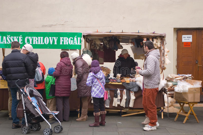 Fairs of christmas. Beskydy Museum in Frýdek-Místek, an organization, organizes Sunday, December 7, 2014 9:00 to 3:00 p.m. hours of traditional Christmas royalty free stock photos