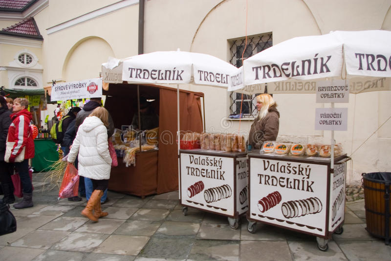 Fairs of christmas. Beskydy Museum in Frýdek-Místek, an organization, organizes Sunday, December 7, 2014 9:00 to 3:00 p.m. hours of traditional Christmas royalty free stock photo