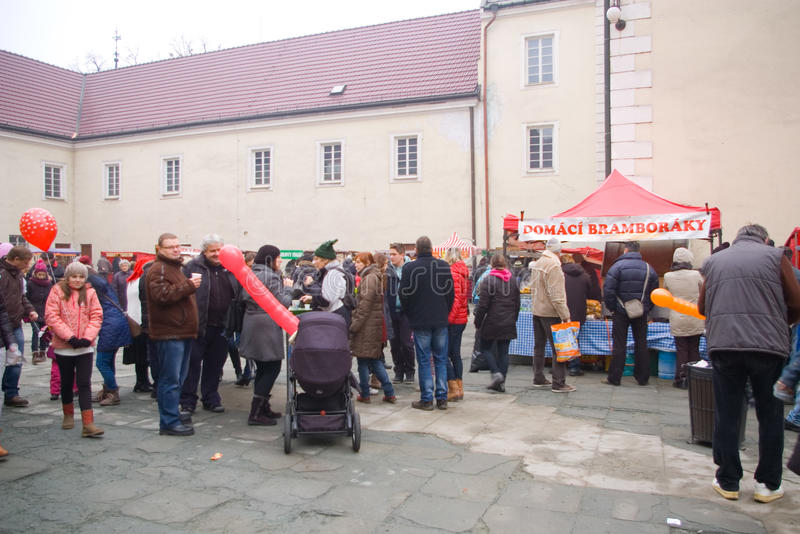 Fairs of christmas. Beskydy Museum in Frýdek-Místek, an organization, organizes Sunday, December 7, 2014 9:00 to 3:00 p.m. hours of traditional Christmas royalty free stock photography