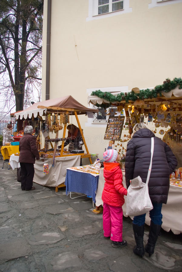 Fairs of christmas. Beskydy Museum in Frýdek-Místek, an organization, organizes Sunday, December 7, 2014 9:00 to 3:00 p.m. hours of traditional Christmas royalty free stock images
