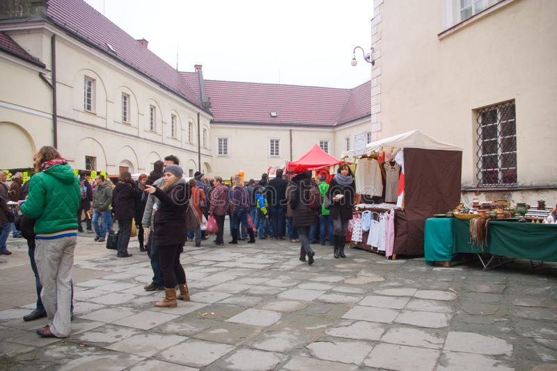 Fairs of christmas. Beskydy Museum in Frýdek-Místek, an organization, organizes Sunday, December 7, 2014 9:00 to 3:00 p.m. hours of traditional Christmas stock photos