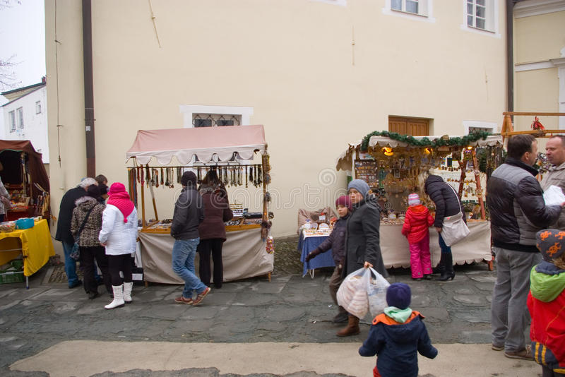 Fairs of christmas. Beskydy Museum in Frýdek-Místek, an organization, organizes Sunday, December 7, 2014 9:00 to 3:00 p.m. hours of traditional Christmas stock photo