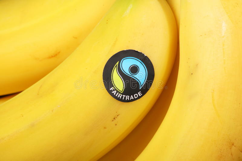 Fairtradesticker stock afbeeldingen