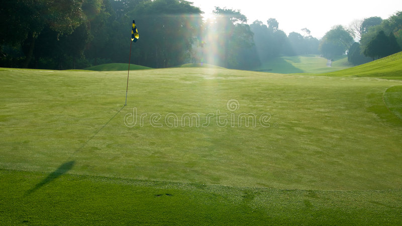 Download Fairway stock photo. Image of sunrise, backlight, course - 5302898