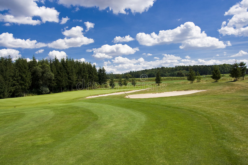 Fairway of a beautiful golf course stock photography