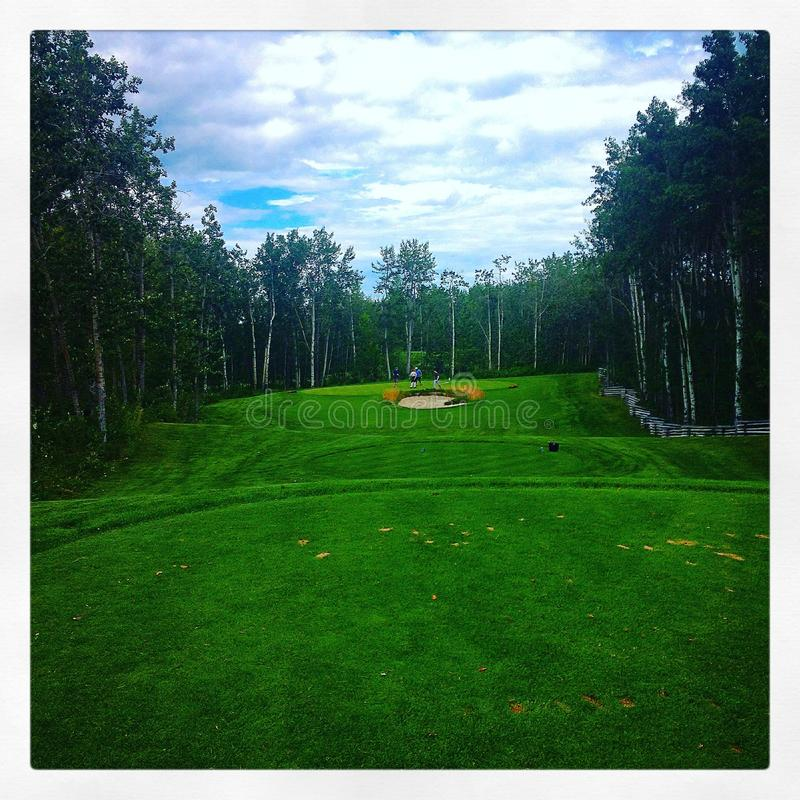 Fairway de golf image libre de droits