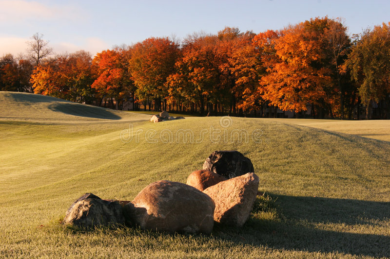 Download Fairway Fall Colors stock photo. Image of rocks, golf - 1739540