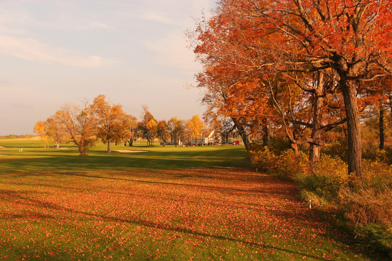 Download Fairway Fall Colors stock photo. Image of scenic, beautiful - 1743210