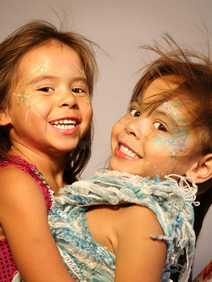 fairy близнец девушок стоковая фотография