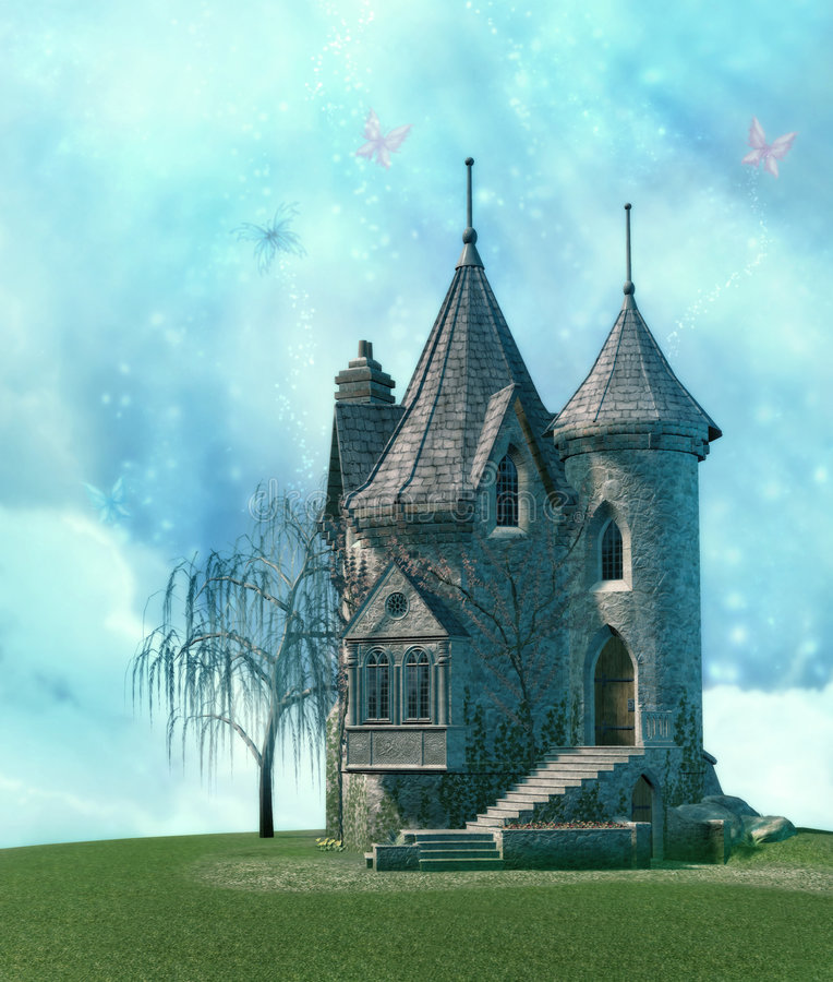 fairy дворец иллюстрация штока