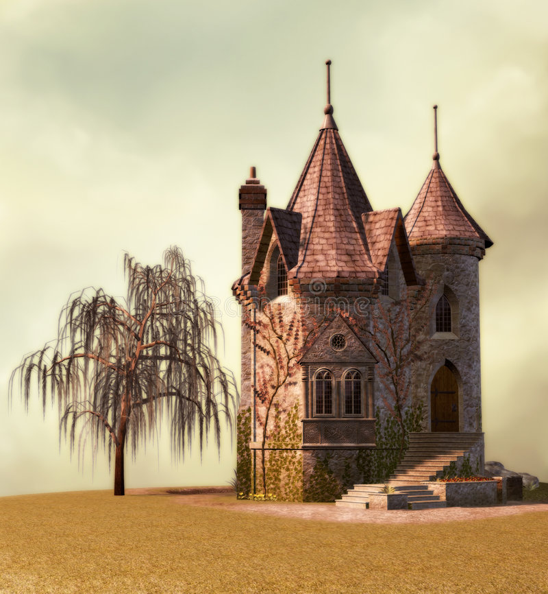 fairy дворец бесплатная иллюстрация