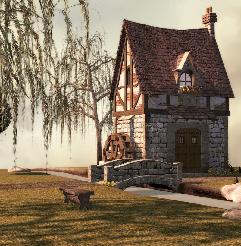 fairy дворец иллюстрация вектора