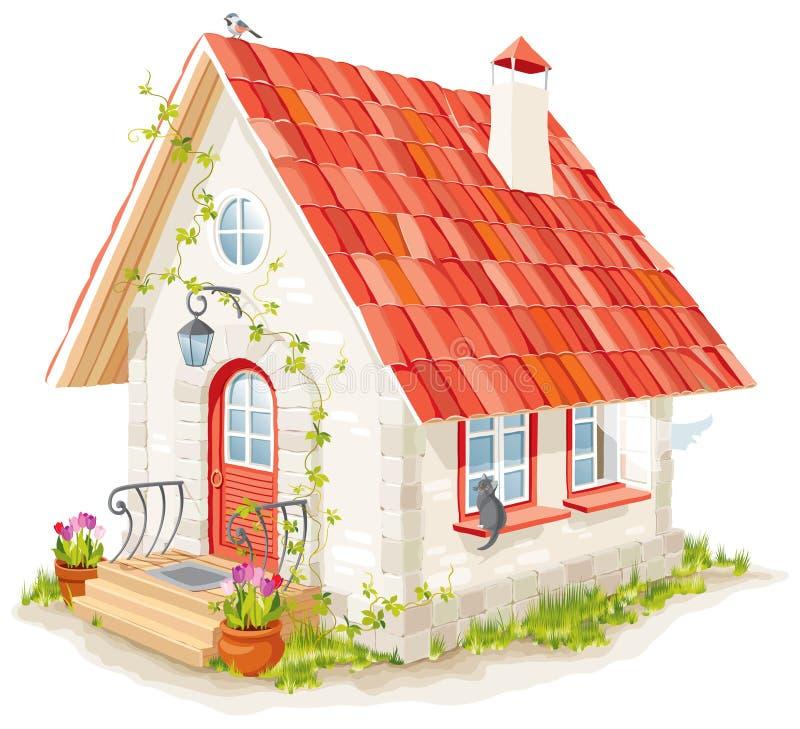fairy дом немногая иллюстрация вектора
