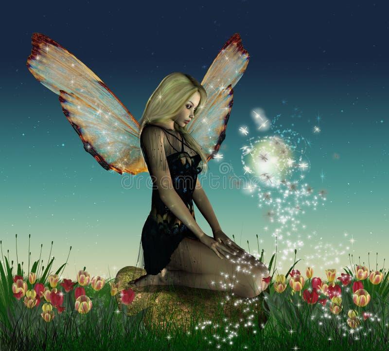 fairy зацветенное сказовое иллюстрация штока