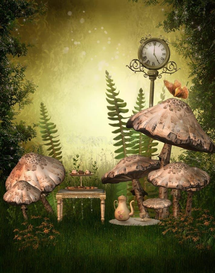 fairy зеленый цвет сада иллюстрация вектора