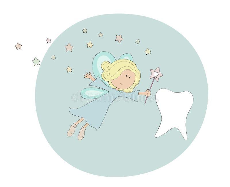fairy зуб иллюстрация вектора