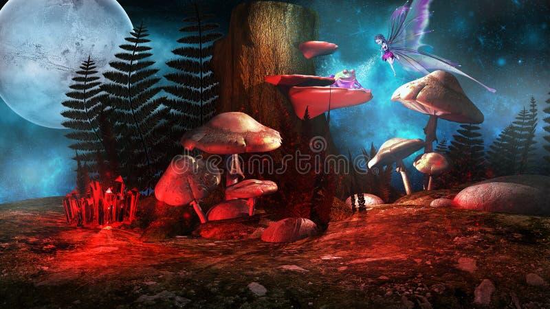 Fairy и заколдованная лягушка бесплатная иллюстрация