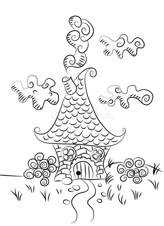 Fairy дом, графики эскиза иллюстрация штока