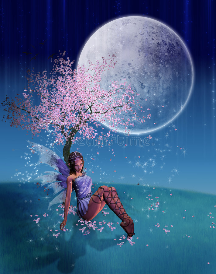 fairy отдыхать иллюстрация штока