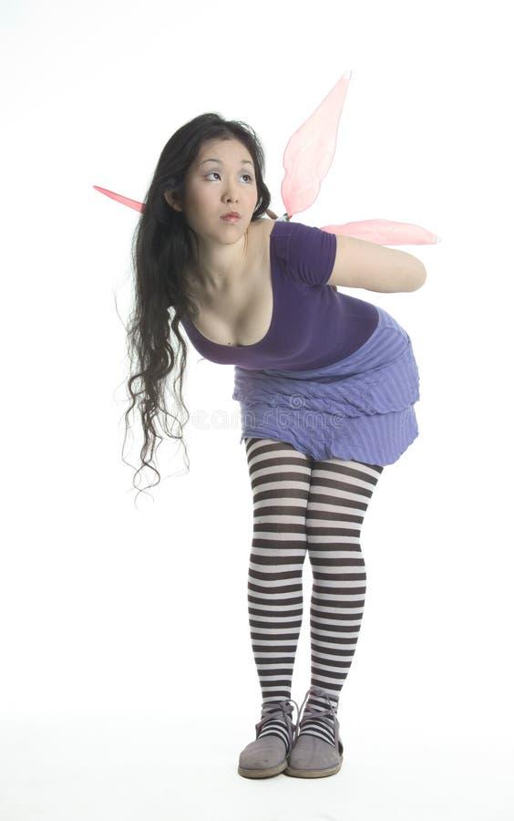 fairy розовые пурпуровые крыла стоковые фото