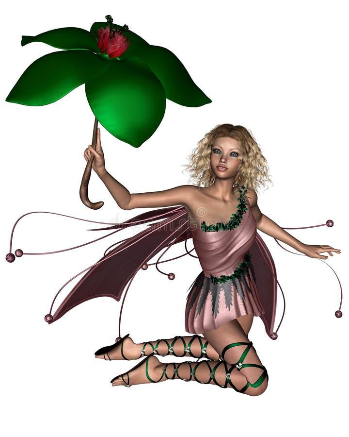 fairy розовый зонтик 3 иллюстрация штока