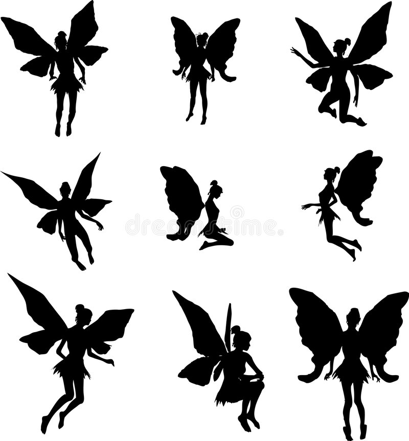 fairy силуэты иллюстрация штока
