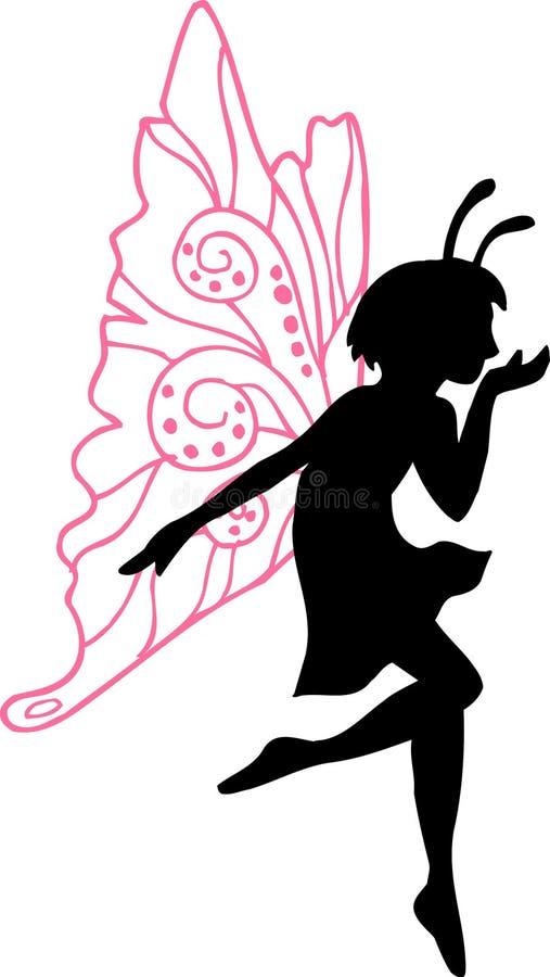 fairy силуэт иллюстрации иллюстрация вектора