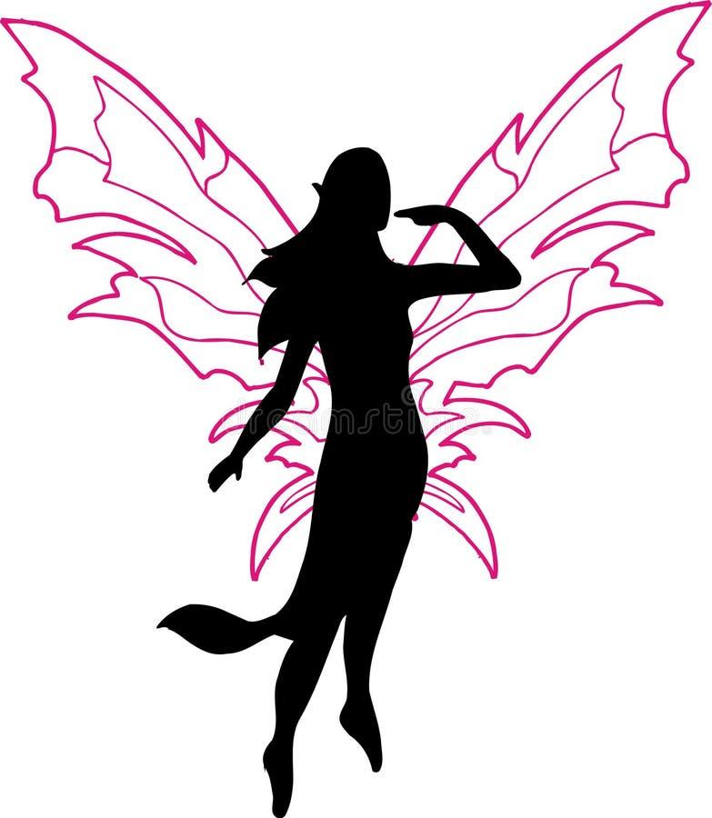 fairy силуэт иллюстрации бесплатная иллюстрация