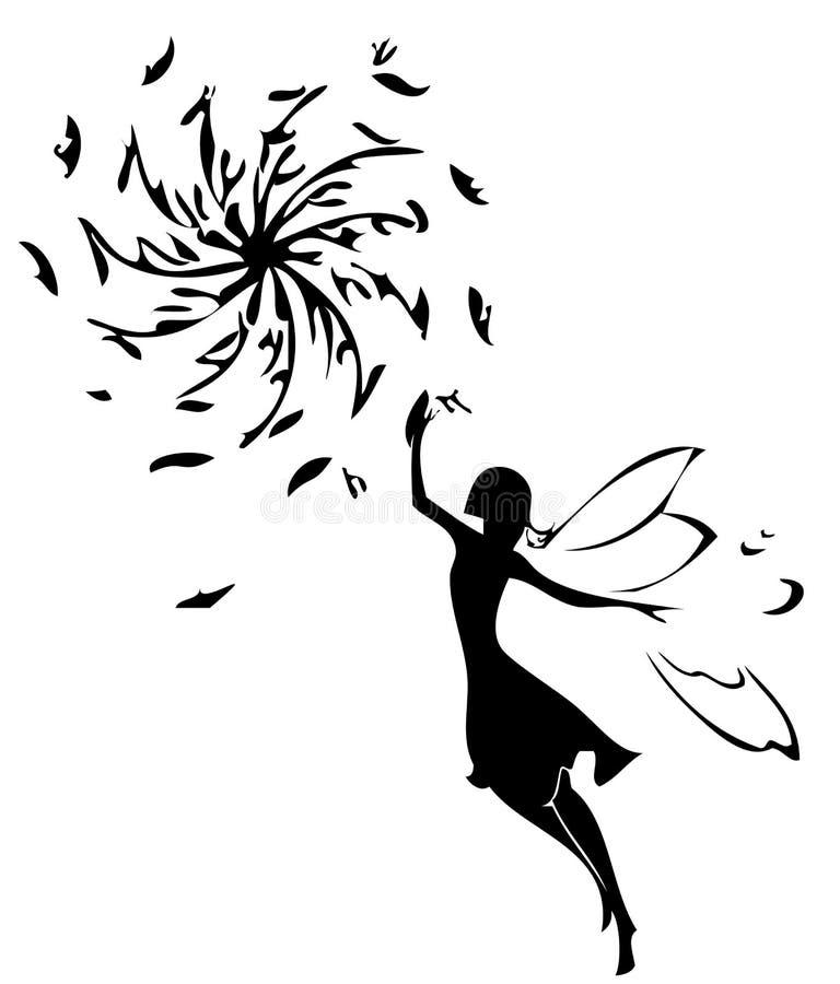 fairy силуэт бесплатная иллюстрация