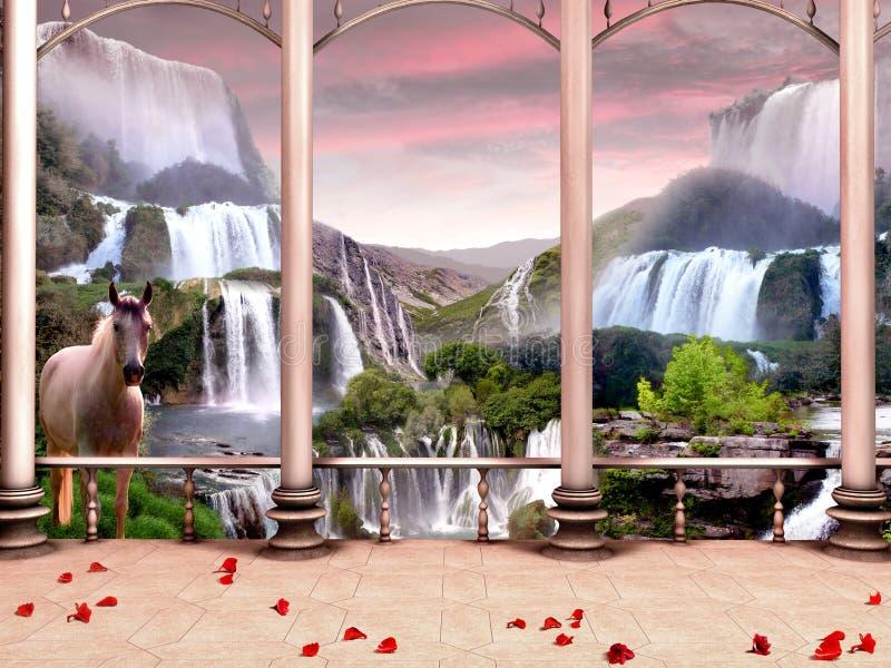 fairy сказ захода солнца стоковые фотографии rf