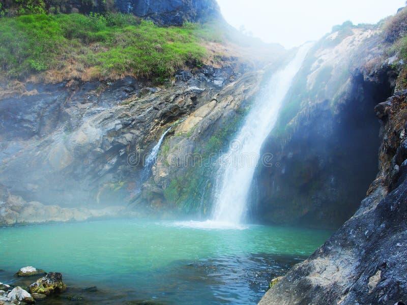 Fairy термальный водопад стоковое изображение rf