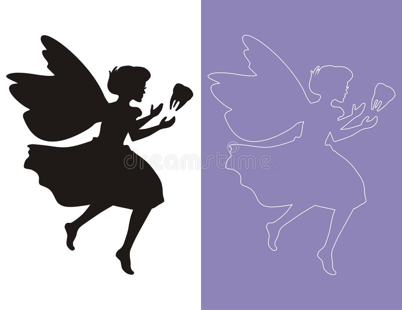 Download Fairy stock vector. Image of silhouette, flying, myth - 11464586