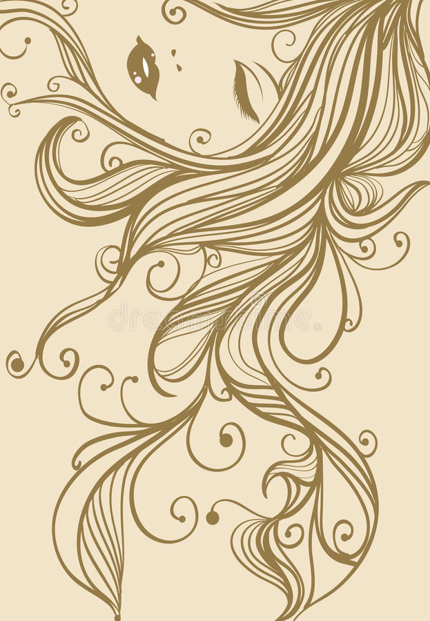 Download Fairy stock illustration. Illustration of hair, illustration - 12548092