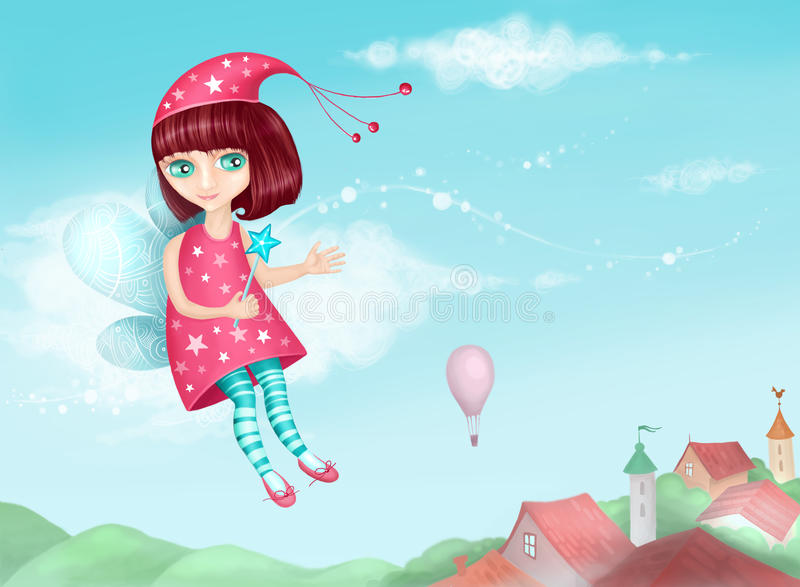 Fairy. Illustration of a cute fairy royalty free illustration