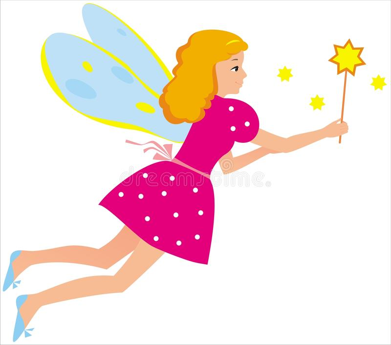 Fairy. Vector image of fairy-girl stock illustration