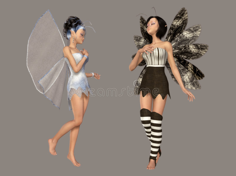 Fairy. Digital cute fairies for your artistic creations and/or projects isolated digital lovely fairy royalty free illustration