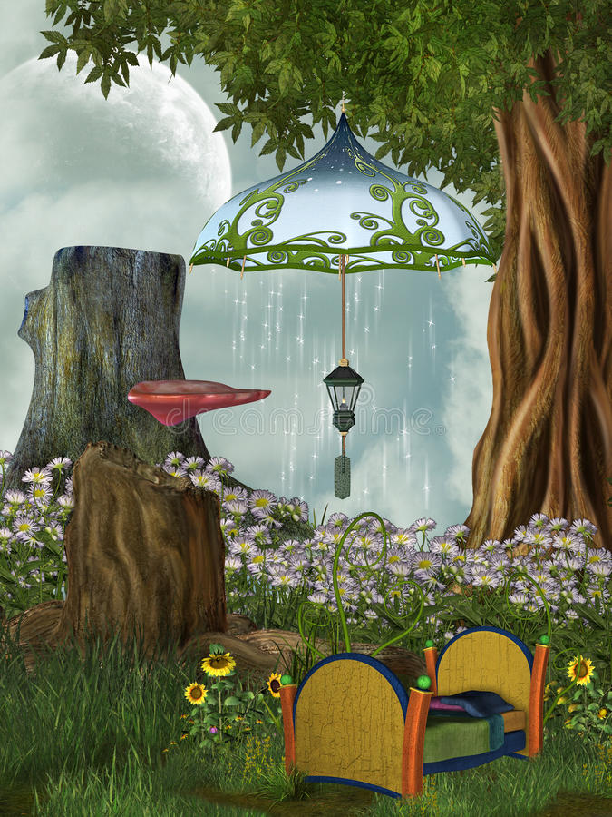 Download Fairy bed stock illustration. Image of magic, princess - 22308260