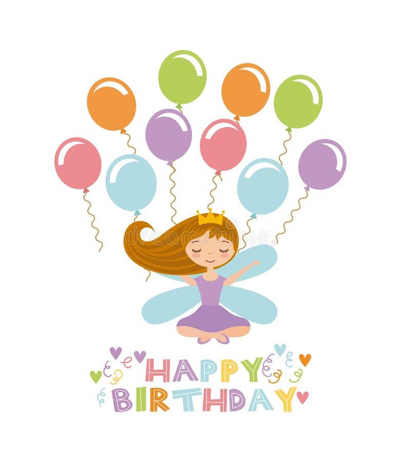 Free Fairy Birthday Card Royalty Free Stock Photos - 80694018