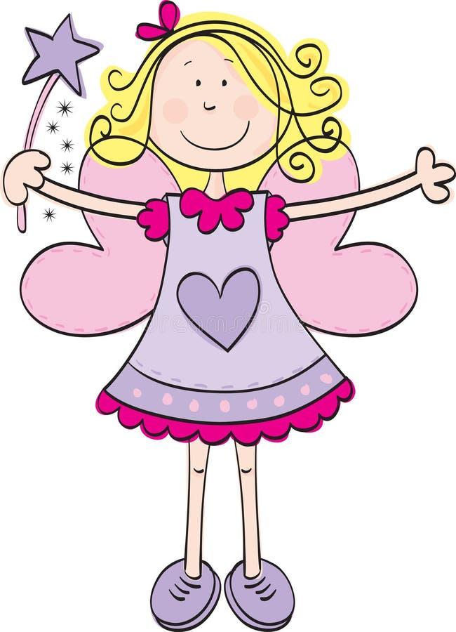 Fairy bonito ilustração do vetor