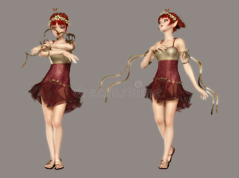 Fairy bonito ilustração royalty free