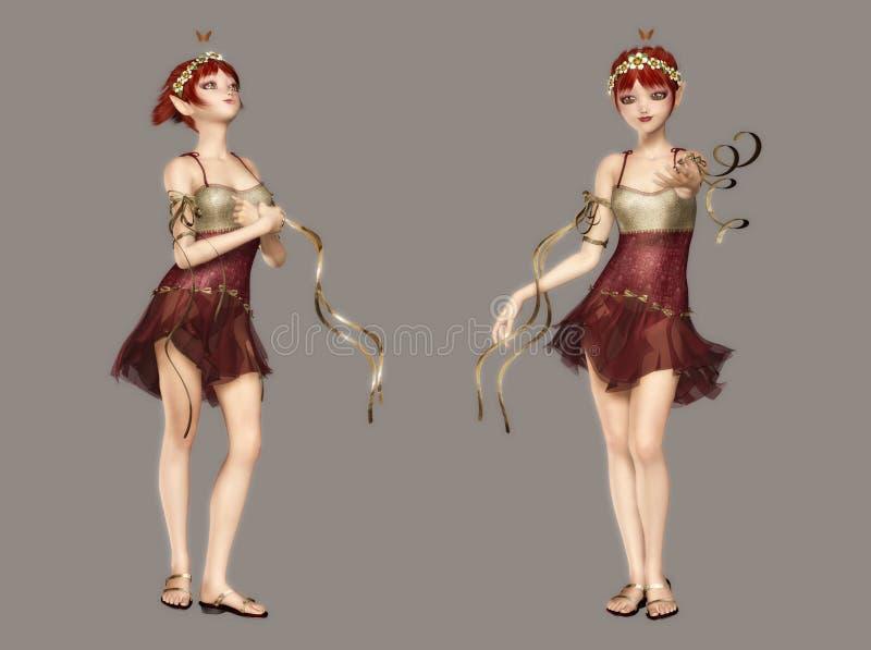 Fairy bonito ilustração stock