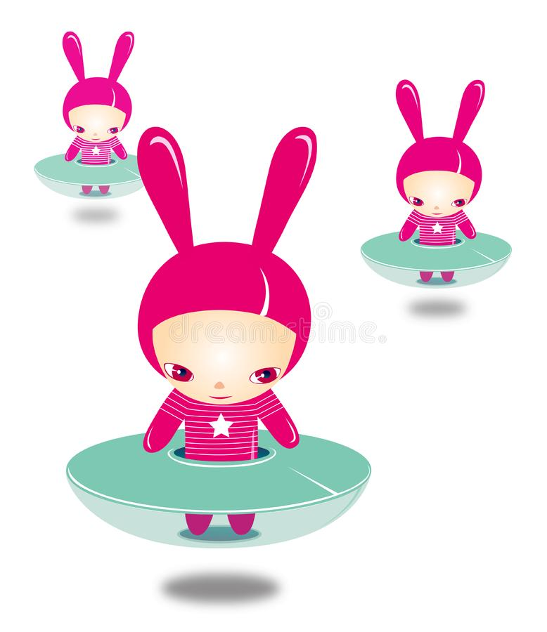 Download FAIRY BUNNY CHILDREN stock illustration. Illustration of green - 8461571